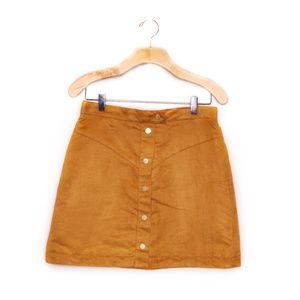 NWOT Faux Suede Button Down Skirt Sz 10